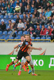 Match between FC Dnipro vs FC Shakhtar. Ukrainian championship Royalty Free Stock Images