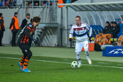 Match between FC Shakhtar vs FC Bayern. Champions League Stock Image