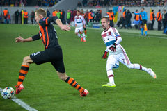 Match between FC Shakhtar vs FC Bayern. Champions League Stock Photo
