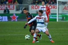 Match between FC Shakhtar vs FC Bayern. Champions League Royalty Free Stock Photo