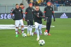 Match between FC Shakhtar vs FC Bayern. Champions League Stock Photos