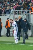 Match between FC Shakhtar vs FC Bayern. Champions League Royalty Free Stock Image