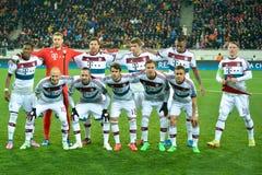 Match between FC Shakhtar vs FC Bayern. Champions League stock photo