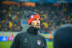 Match between FC Shakhtar vs FC Bayern. Champions League Stock Photography