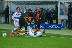 Match between FC Shakhtar vs FC Bayern. Champions League Royalty Free Stock Photo