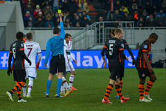 Match between FC Shakhtar vs FC Bayern. Champions League Royalty Free Stock Photography