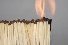Match in Fire Royalty Free Stock Image
