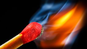 Match fire. Best image ever, beautiful fire and old school lighting royalty free stock image