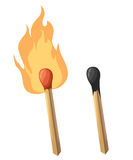 Match fire icon set for interiors Flat design style  illustration.  Stock Photo