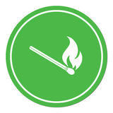Match fire icon vector Royalty Free Stock Photography