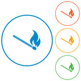 Match fire icon vector Stock Photos