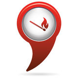 Match fire icon vector Stock Photography
