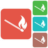 Match fire icon vector Royalty Free Stock Images