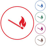 Match fire icon vector Royalty Free Stock Photo