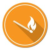Match fire icon vector Stock Images