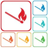 Match fire icon vector Stock Image