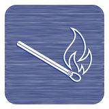 Match fire icon vector. Vector illustration Royalty Free Stock Image
