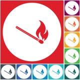 Match fire icon vector. Vector illustration Stock Photos