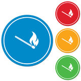 Match fire icon vector Royalty Free Stock Photos