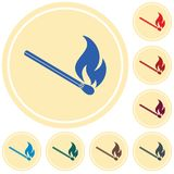 Match fire icon vector. Vector illustration Stock Image