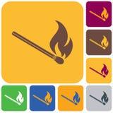 Match fire icon vector. Vector illustration Royalty Free Stock Photos