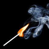 Match fire smoke Stock Photography