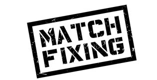 Match Fixing rubber stamp Stock Photography