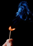 Match with a flame Stock Photography