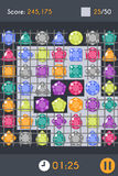Match3 Gems Puzzle Game Screen Royalty Free Stock Photography