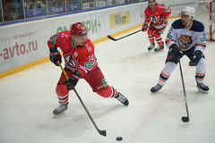 Match between hockey clubs  Royalty Free Stock Photo