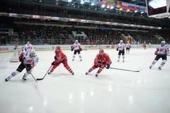 Match between hockey clubs  Stock Photos