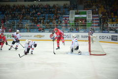 The match between hockey clubs  Royalty Free Stock Image