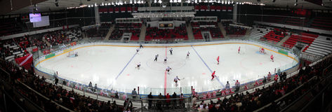 Match on hockey stadium Royalty Free Stock Images