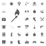 Match icon. Camping and outdoor recreation icons set.  Stock Photography