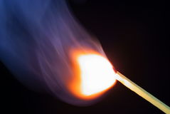 Match ignite closeup Royalty Free Stock Photo