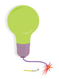 Match and Lightbulb Royalty Free Stock Image