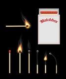 Match and matchbox Stock Image