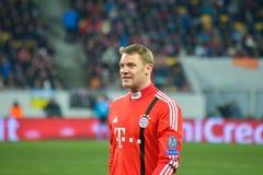 Match mellan FC Shakhtar vs FC Bayern kämpar för ligan Fotografering för Bildbyråer