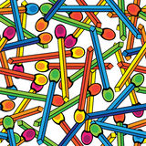 Match multicolor on seamless pattern Stock Image