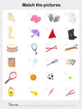 Match object - Worksheet for education vector illustration