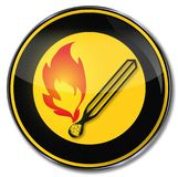Match and open flame. Danger match and open flame Stock Photos