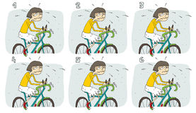Match-Paar-Sichtspiel: Fahrrad Stockfoto