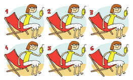 Match Pairs Visual Game: Drink. Task: find two identical images! Answer: 1 and 6. Illustration is in eps8  mode Royalty Free Stock Photography