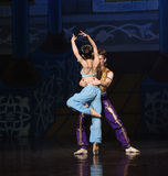 """Match partner- ballet """"One Thousand and One Nights"""" Stock Images"""