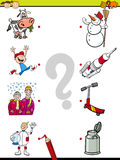 Match pictures task for kids Royalty Free Stock Image