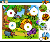 Match pieces game cartoon Stock Images