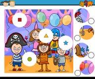 Match pieces game cartoon Stock Photo