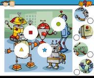 Match pieces game cartoon Royalty Free Stock Photos