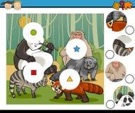 Match pieces game cartoon Stock Photos