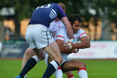 Match for place 3 Georgia vs Scotland in Rugby 7 Grand Prix Series in Moscow Stock Image